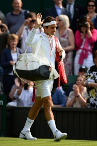 on day three of the Wimbledon Lawn Tennis Championships at the All England Lawn Tennis and Croquet Club on June 26, 2013 in London, England.
