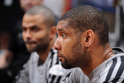 MIAMI, FL - JUNE 20: Tim Duncan #21 of the San Antonio Spurs sits on the bench prior to the start of Game Seven of the 2013 NBA Finals against the Miami Heat on June 20, 2013 at the American Airlines Arena in Miami, Florida.