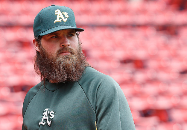 BOSTON, MA - MAY 4: Derek Norris #36 of the Oakland Athletics prepares for batting practice before a game with Boston Red Sox at Fenway Park on May 4, 2014 in Boston, Massachusetts.