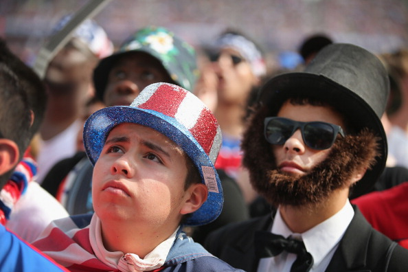 Fans gather at Soldier Field to watch USA take on Belgium (credit: Scott Olson/Getty Images)