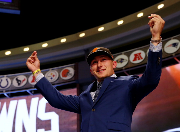 Former Texas A&M and current Cleveland Browns quarterback Johnny Manziel. (credit: Elsa/Getty Images)