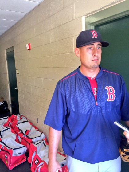 Former St. Louis Cardinal Allen Craig returns to Jupiter, Florida to play his former team as a member of the Boston Red Sox. (Credit: Chris Hrabe/KMOX)