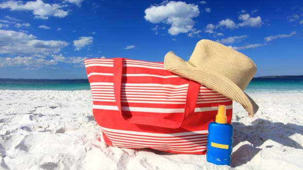 Summer Beach Bag, Beach Bag, Summer, Beach, Sunscreen