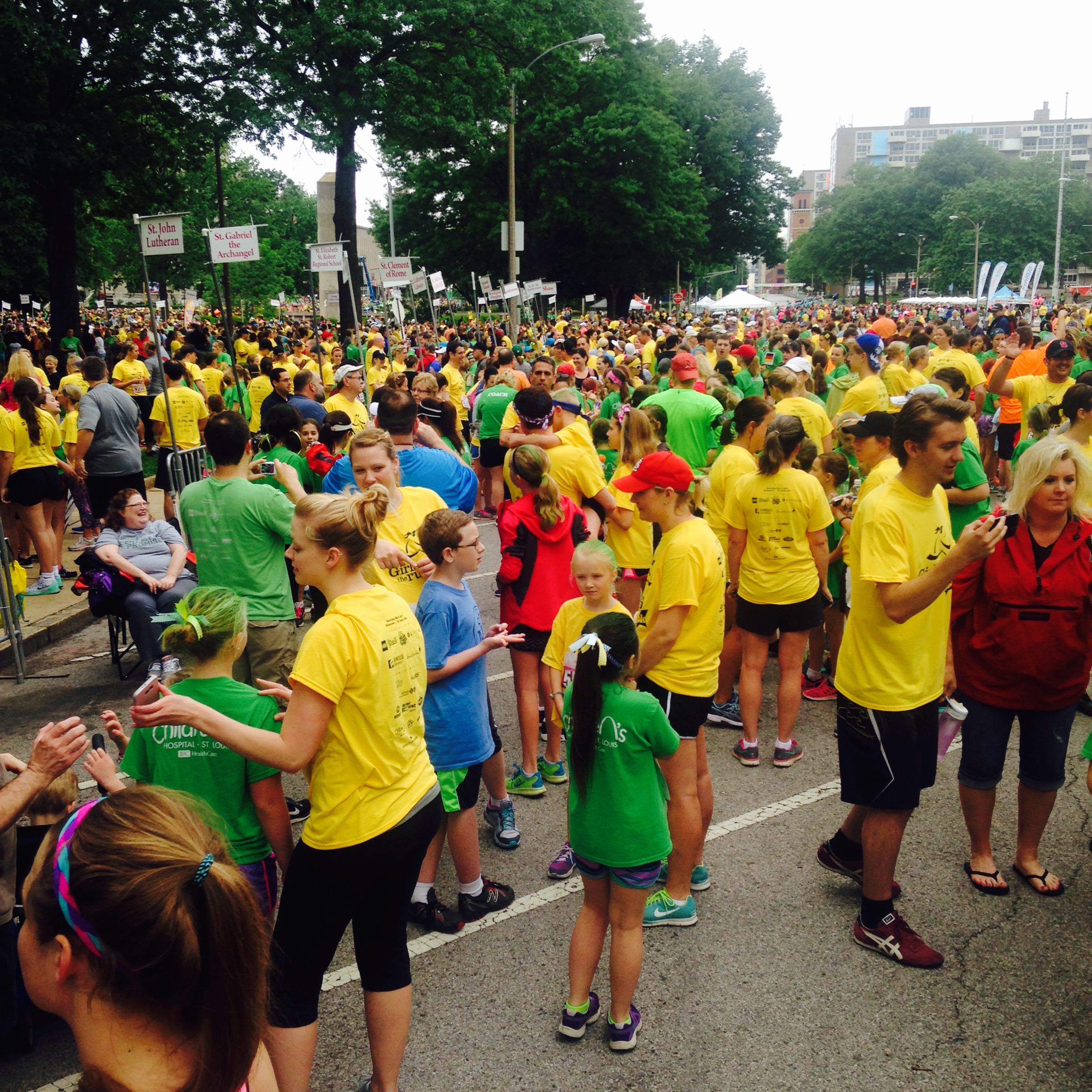 Girls on the Run 5K, one of dozens of race events to bring tens of thousands downtown. (Photo by Debbie Monterrey)
