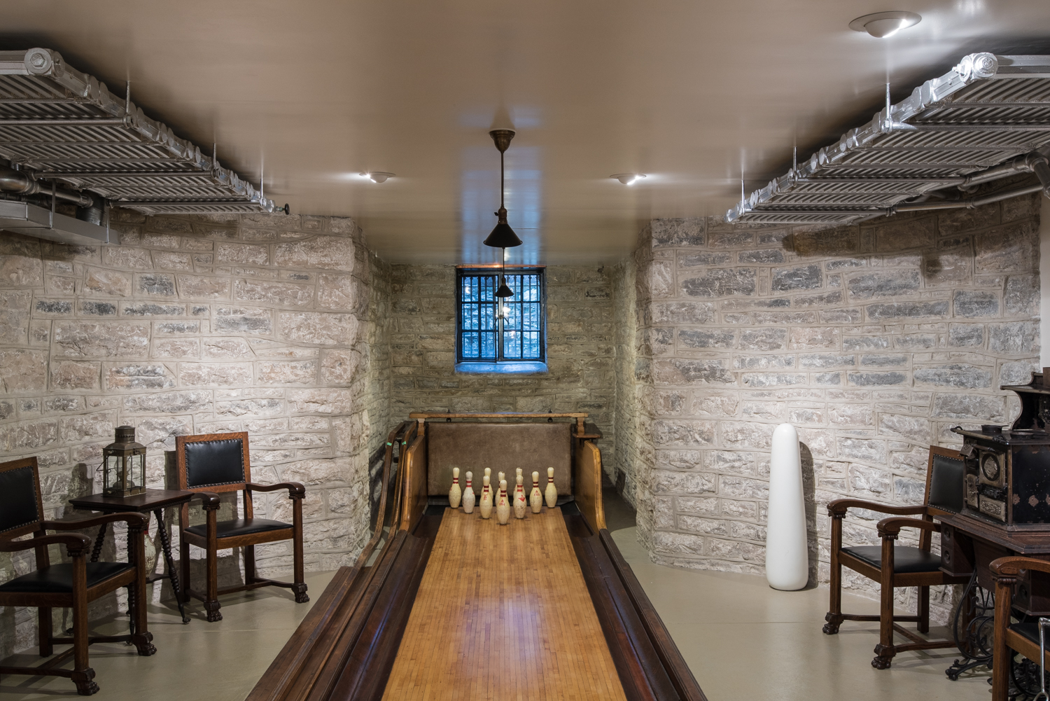 The basement bowling lane at the Magic Chef Mansion, one of the gorgeous homes on the Compton Heights/Compton Hill Home Tour (Photo by and courtesy of Michael C. Daft)