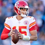 Patrick Mahomes #15 of the Kansas City Chiefs drops back to pass in the second half of a game against the Tennessee Titans at Nissan Stadium on November 10, 2019 in Nashville, Tennessee. The Titans defeated the Chiefs 35-32.